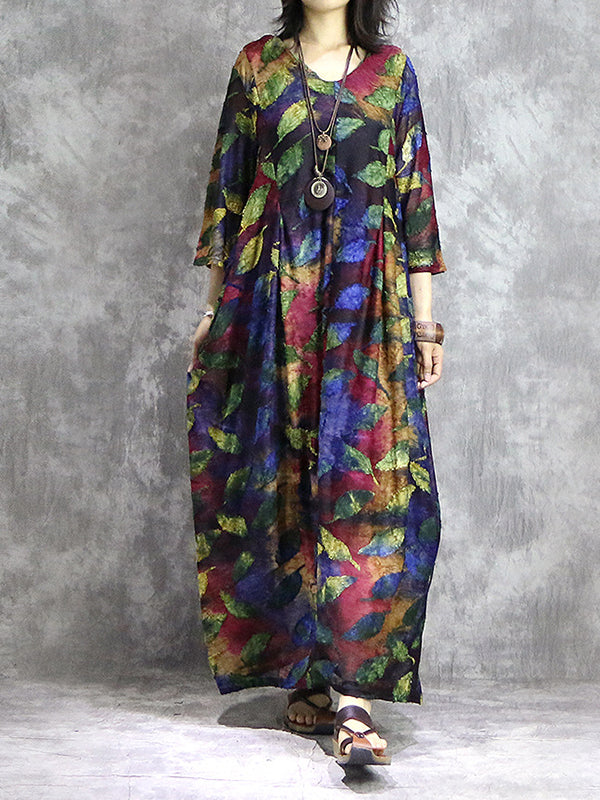 Freya Leaf Jacquard Maxi Dress
