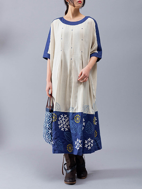 Diana Joint Embroidery Midi Dress