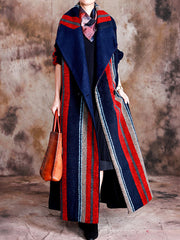 Ladylike Lately Belted Woolen Collared Coat