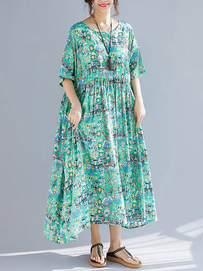 Green Light Smock Dress
