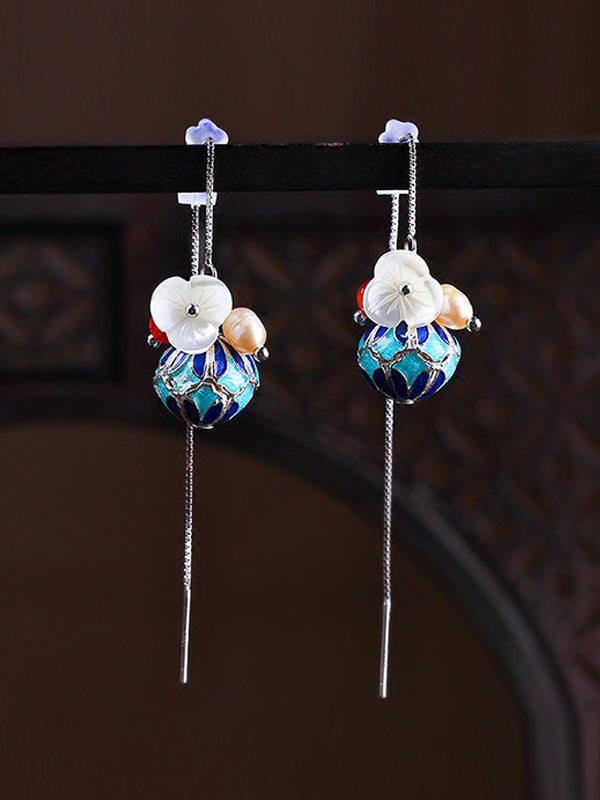 Flower Pouch Earrings