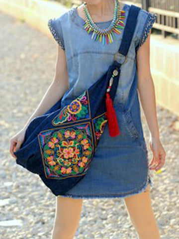 Ethnic Embroidered Cross-Body Hmong Bag