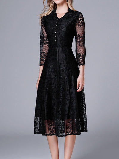 Black Goals Lace Dress