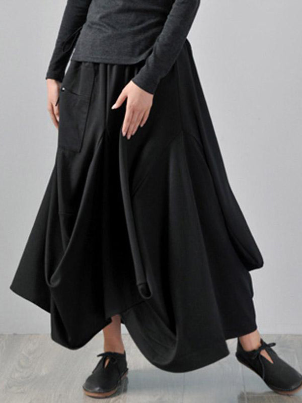 Samurai Flare Front Pocket Skirt