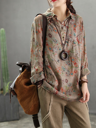 Lolita Linen & Cotton Full Sleeve Shirt