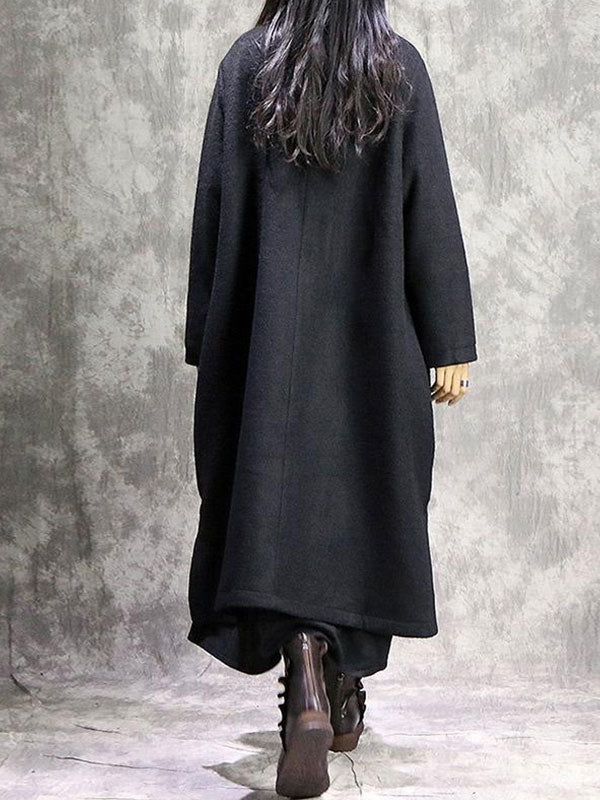 High Quality Reign Of Fire Embroidered Wrap Coat