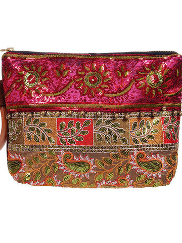 Sequined Embroidered Bag