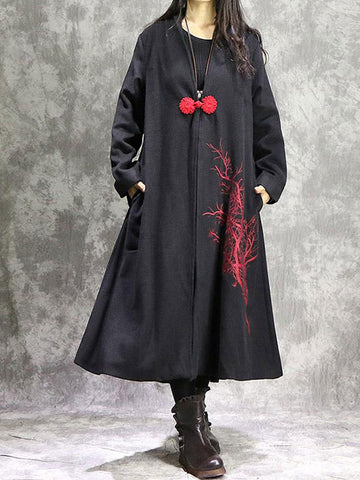 High Quality Jungle Fever Single Button Vintage Coat