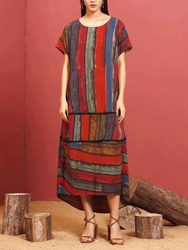 Craft Stripes Silk Shift Dress