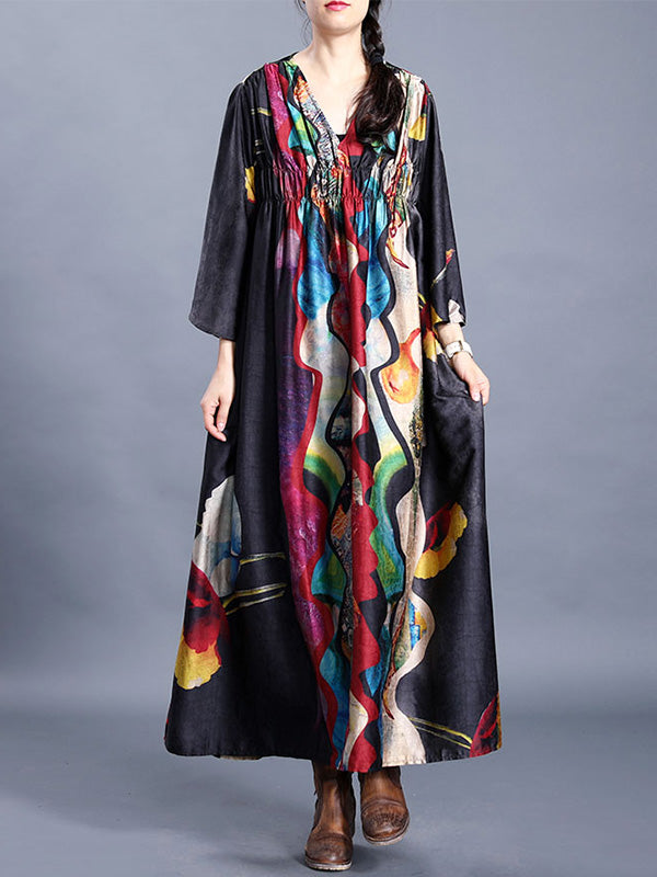 Art Vibes Silk A-Line Dress