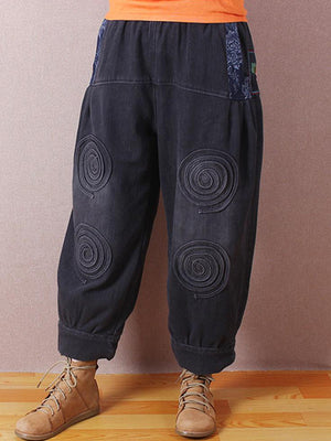 Optical Illusion Circular Print Pant