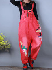 Don't Bother Me Cotton Ripped Overall Dungarees
