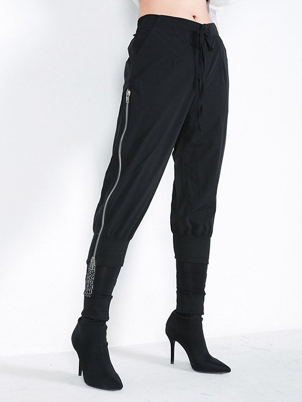 Zipper Casual Pants