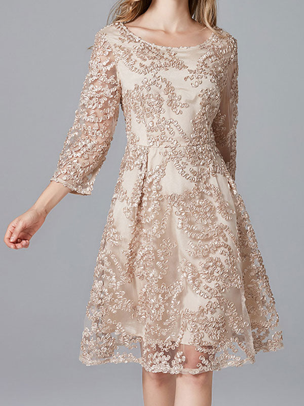 Spice-Up Lace A-Line Dress