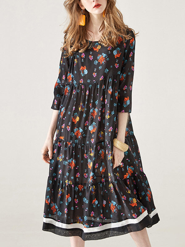 Winner Mulberry Silk Joint Midi Dress