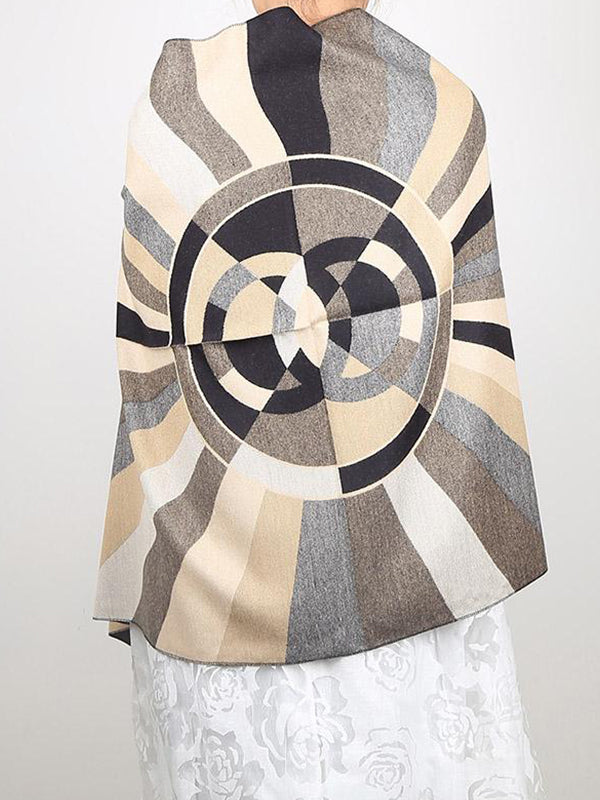 Stripes Two Shade Wool Scarf