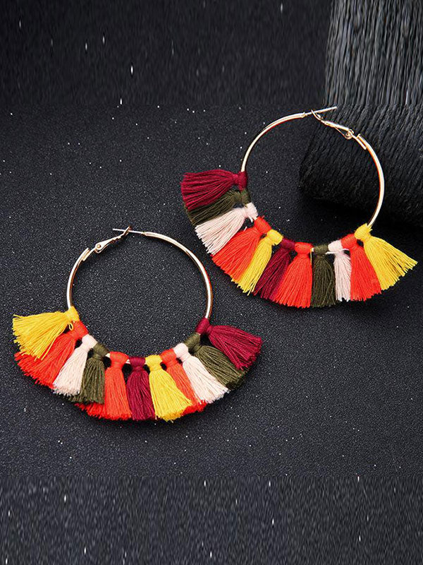 Tassel Chandelier Black Earrings