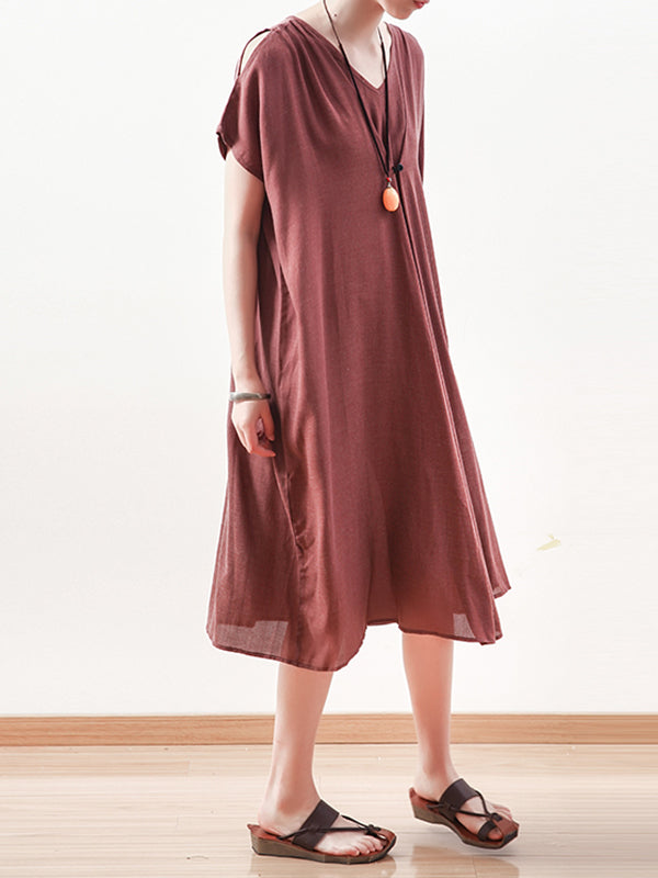 Wind Chuckles Cotton Midi Dress