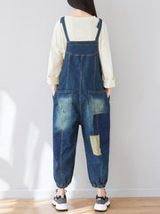 The Kellianne Patched Denim Overalls Dungarees