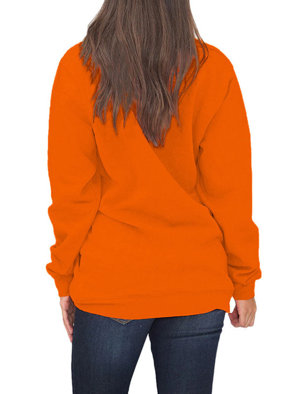 Pumpkins Dance Zipper Halloween Sweatshirt