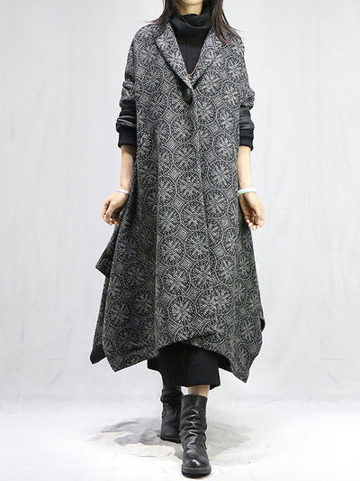 Cherish the Day Printed Woolen Coat