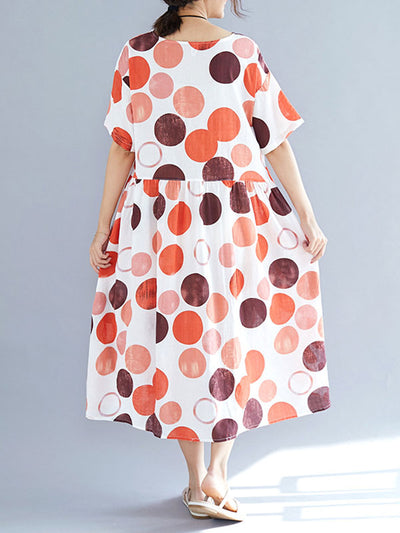 Follow the Dots Cotton Smock Dress