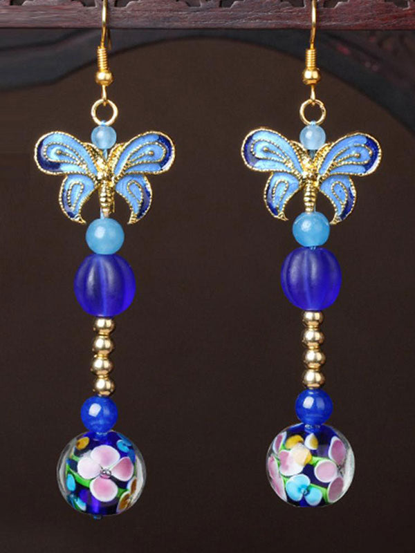 Bewitching Pearl Mesh Butterfly Earrings