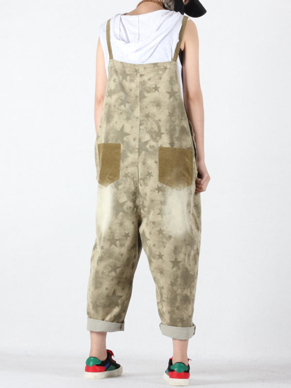 Alexia Contrast Color Joint Ninth Overall Dungaress