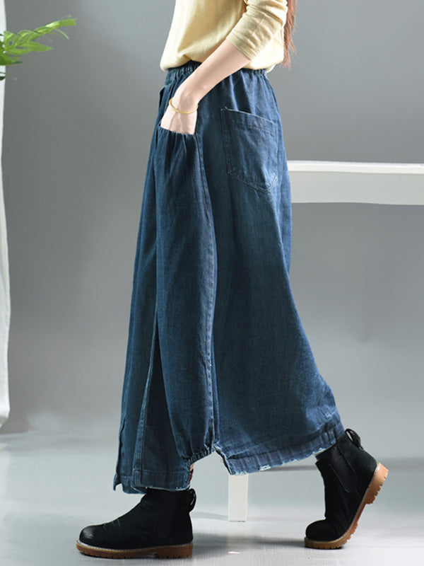 Casual A-line Denim Skirt