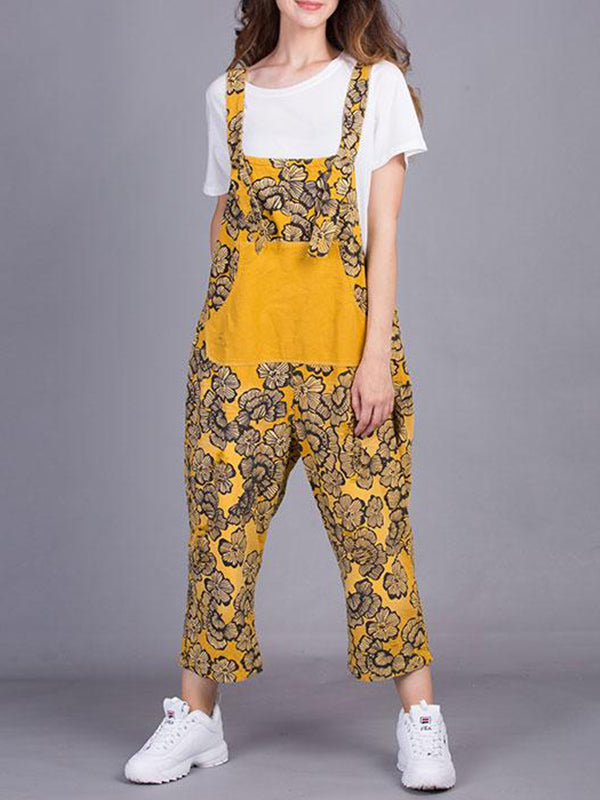 Mystery Floral Overall Dungarees