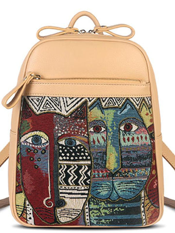 Korean Style Embroidered Backpack