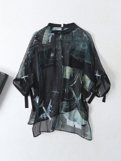 Emily Abstract Dyeing Silk Top