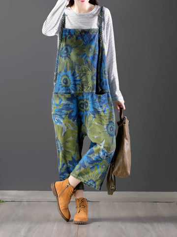 Midnight Floral Overall Dungarees(Pre-sale)