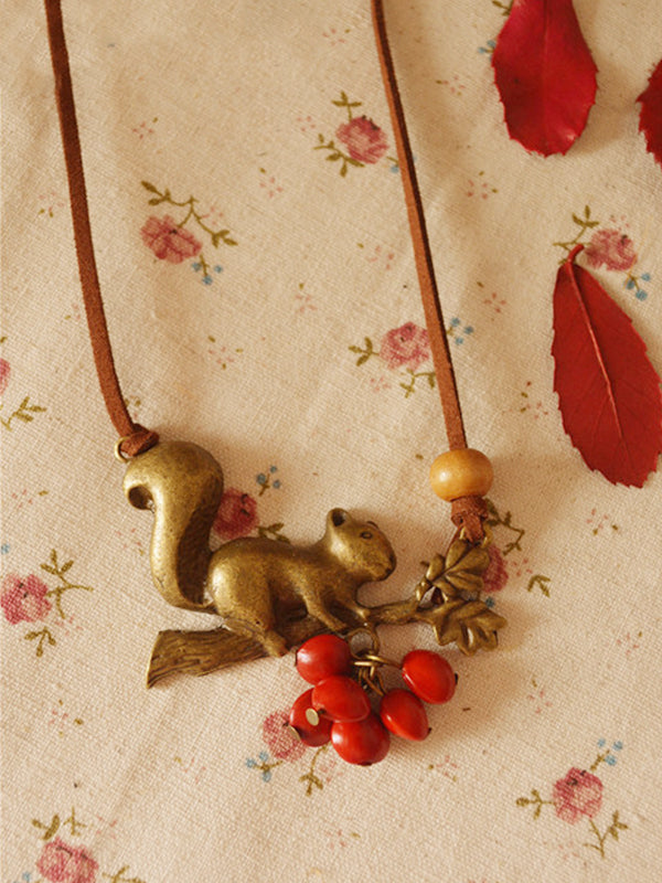 Squirrel Stealing Pendant
