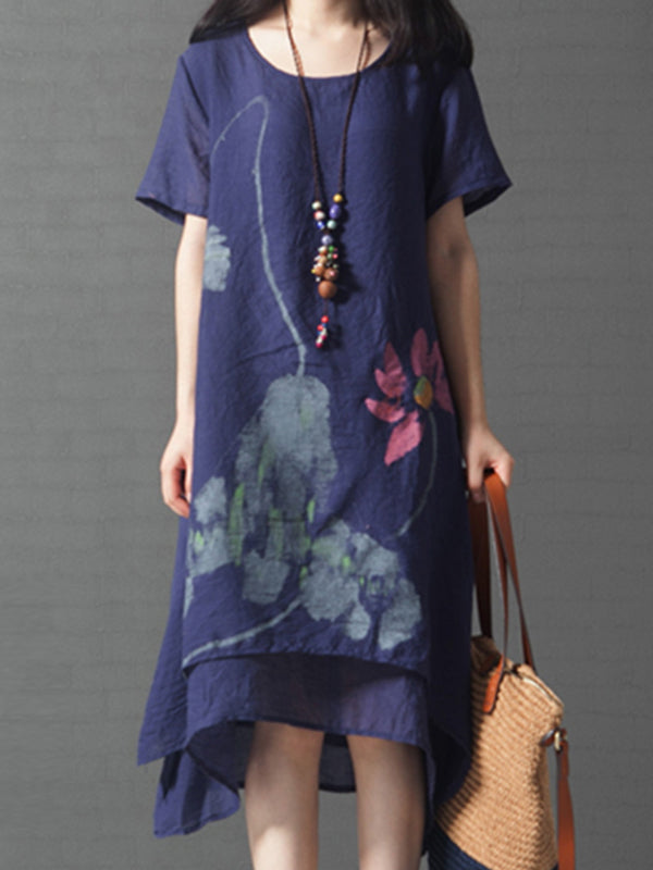Flying Floral A-Line Dress