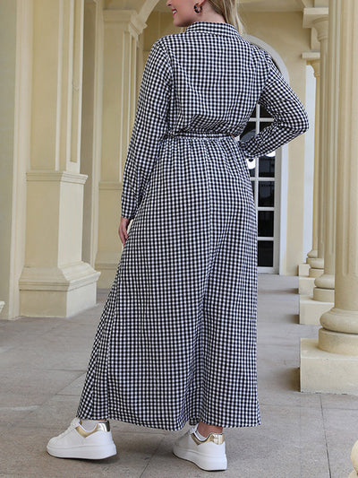 Versatile Charms Collared Plus Size Maxi Dress
