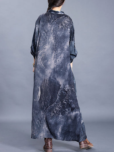 Sheeran Collared Silk Maxi Dress