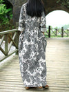 Sketched Flowers Maxi Dress