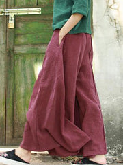Single Pleat Wide Leg Pants