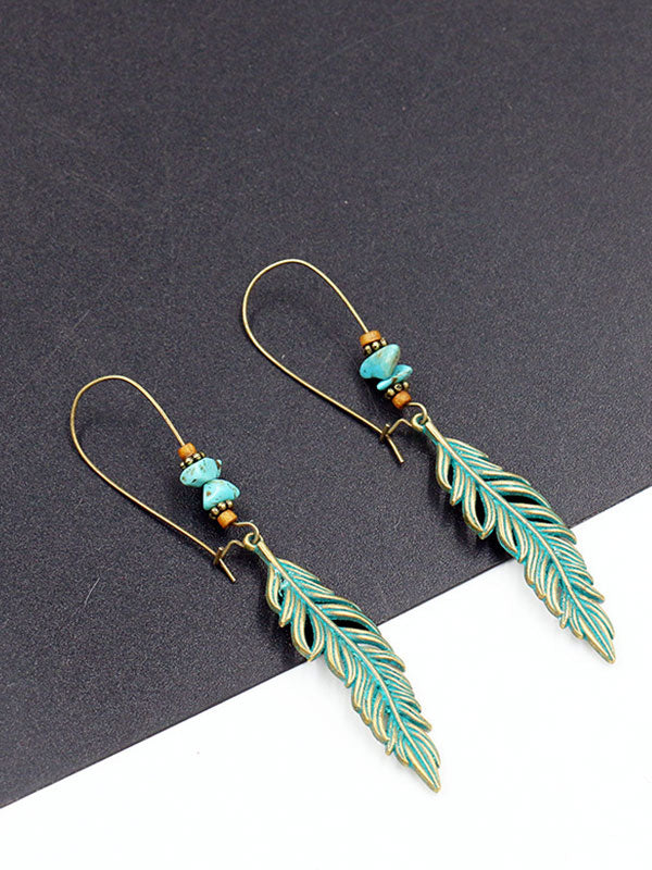 Sing of Wings Feather Earrings