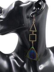 Angles and All Peacock Feather Earrings
