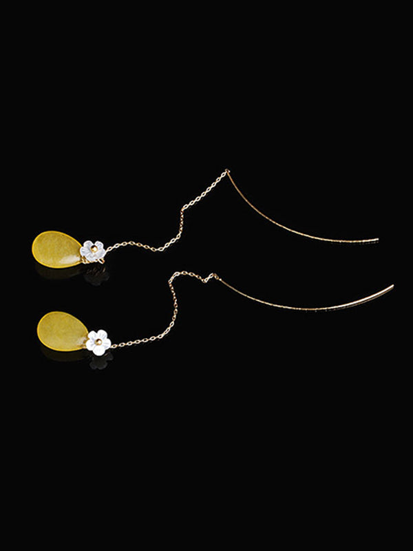 Mango Drop Alloy Earrings
