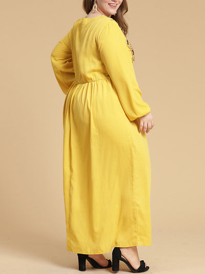 Bold Notion Plus Size A-Line Dress