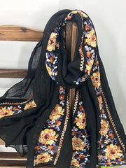 Kendra Floral Embroidered Scarf