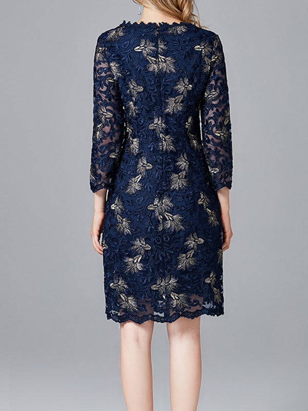 Smoke Floral Lace Dress