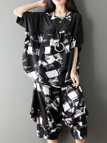 Black Ink Pajama Dress
