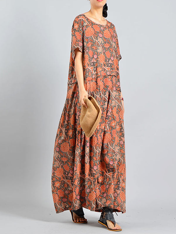 Floral Fashion A-Line Dress