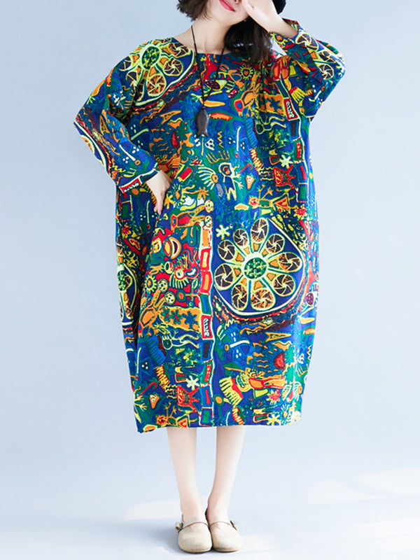 Polychromatic Midi Dress