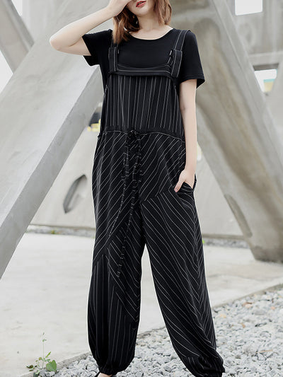 Stacie Stripe Overall Dungarees