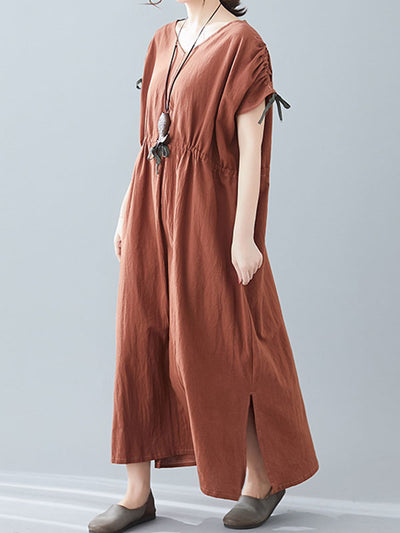 Double the Lovely Drawstring A-Line Dress